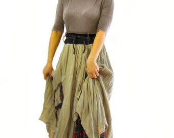 Beige Wool 100% winter skirt/Handmade skirt/Casual skirt/Woman maxi skirt/Winter wool skirt/Long wool woman skirt/Skirt with lining/S1332