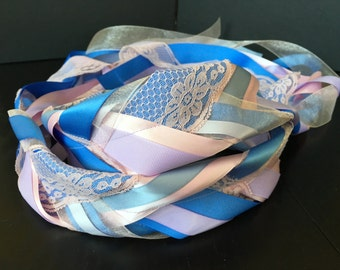Purple, Blue and Pink Handfasting Cord
