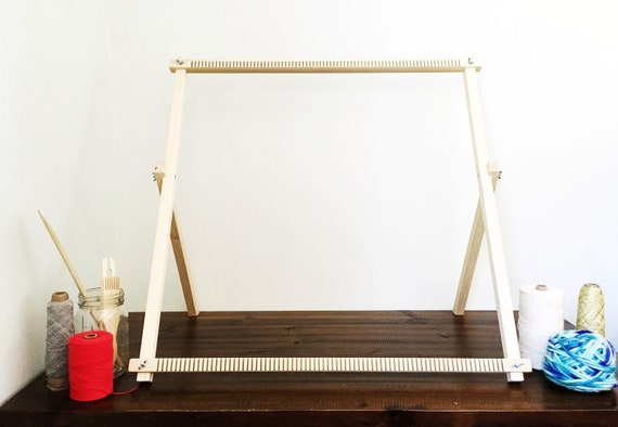 Wall Art Loom Kit : Large weaving loom woven wall hanging by rovingtextiles