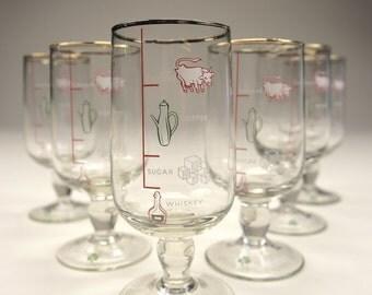 Set of 6 Irish Coffee Glasses