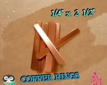 Copper ring blanks!  (50)