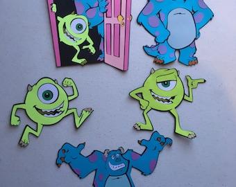 Monsters Inc die cuts Set of 5