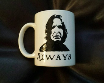 Hand painted mug inspired by Professor Snape