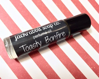 Toasty Bonfire Perfume Oil, Cedar Perfume, Roll On Perfume, Christmas Perfume Oil, Holiday Perfume, Smoke Perfume, Marshmallow  Perfume