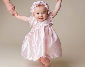 Baby Dresses, Leila Pink Silk Dress