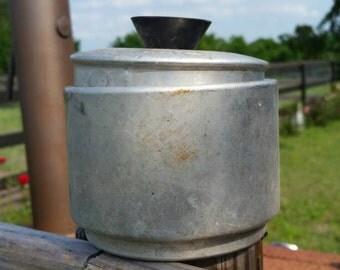 Aluminum Canister Vintage