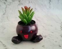 Oddish Pot Plant. Pokemon planter. indoor pot plant. cute handmade pot. Decor