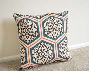 Geometric/Ethnic Double Print Cushion/Pillow Cover in 18 x 18""