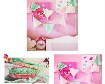 ice cream colours crochet bunting