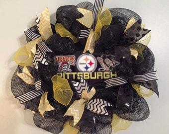 Pittsburgh Team Wreath