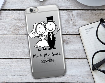 Mr And Mrs Iphone Case - Custom Iphone Case - Funny Iphone Case - Funny Cellphone Case - Iphone Case - Custom Wedding Case