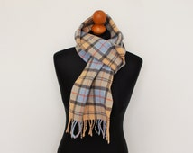 Lambswool Brand  BARBOUR Tartan Scarve Unisex Wool Scarf classy scarf of the British Royal family Made in Scotland