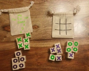 Custom tic tac toe bag, custom kids game, custom traveling game, table game, game for purses, games for camping, Stocking stuffers, kids toy