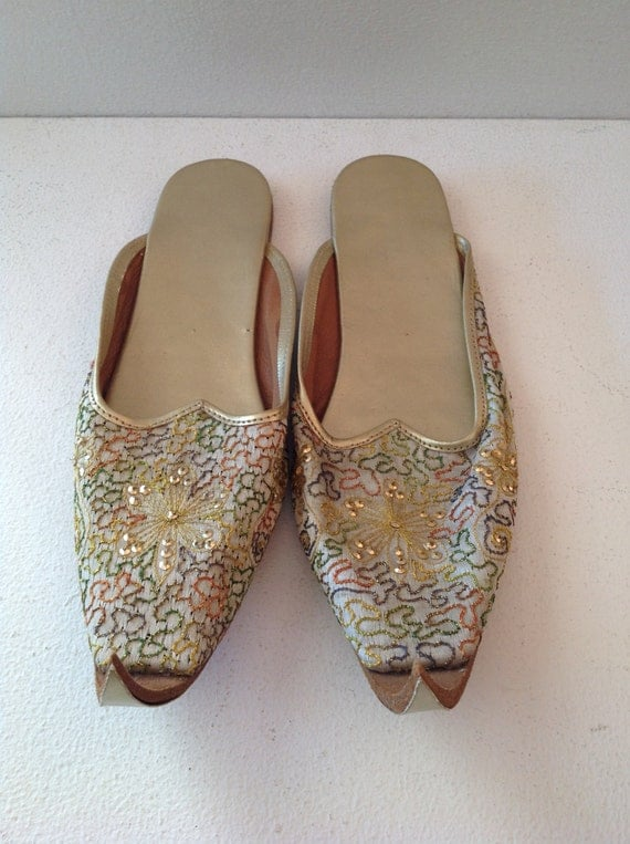 Indian Embroidered Slippers