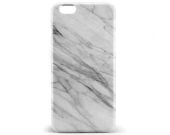 1363 // White Black and Grey Marble Texture Phone Case iPhone 5/5S, 6/6S, 6+/6S+ Samsung Galaxy S5, S6, S6 Edge Plus, S7
