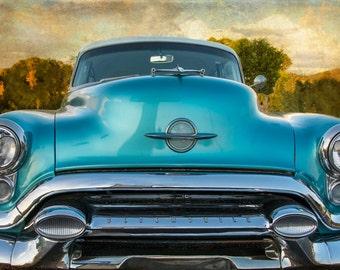 Vintage Car Photo, Gift for Men, Classic Car Photography, Rustic Decor, Boys Room, Man Cave Art, Vintage Oldsmobile Photography, Manly Decor