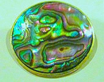 abalone brooch, sea shell brooch, vintage brooch, beach brooch, sea shell pin, abalone pendant, sea shell pendant, paua shell pendant