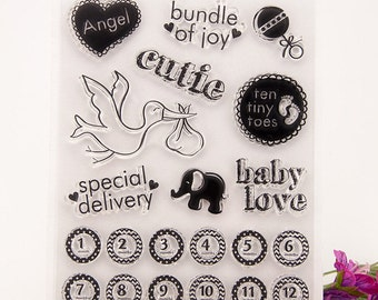 Clear stamp set ( baby)