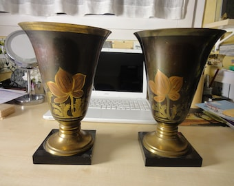 PAIR OF ART Déco vases by A. Ducobu