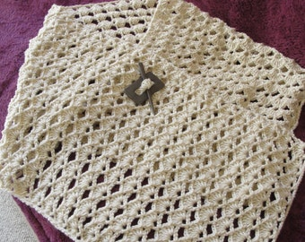 "Handmade Crochet Shawl for cold summer evenings or cold winter. 71"" long and17"" wide."