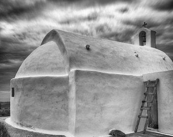 Hilltop Church, Finikia, Santorini, Greece