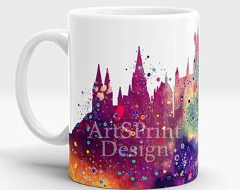 Harry Potter Hogwarts Castle Mug Harry Potter Mug Watercolor Art Cup Coffee Mug Harry Potter Cup Tea Mug Birthday Gift Hogwarts Castle Art