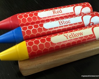Beeswax Crayons for Art Exploration and Coloring Work