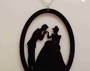Prince and Princess Fairytale Necklace - Acrylic