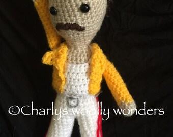 Freddie Mercury amigurumi tribute doll