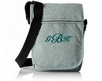 Trendy Element Tablet Bag With Monogram - Jade