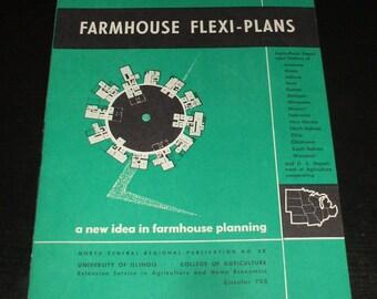 Vintage Farmhouse Flexi Plans Building Manual - Interior Design Building Construction - FREE SHIPPING