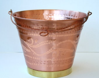 Vase/cooler/copper container with handle