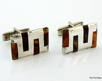 Vintage Mexican Sterling Silver Cufflinks Taxco