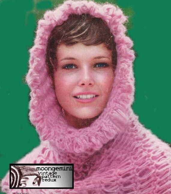 Chainmail Hood Knitting Pattern : PDF Crochet Medieval Chain Mail Hood Helmet Hat Pattern