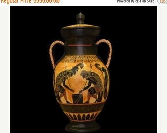 For Sale Achilles and Ajax - Exekias - Ancient Greek Amphora Vase- Vatican Museum Replica