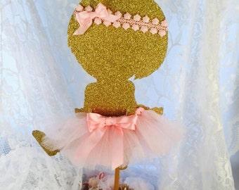 Baby Ballerina Centerpiece - Ballerina Party Decorations - Ballerina Party Decor - Ballerina Party Centerpiece - Ballerina Baby Shower