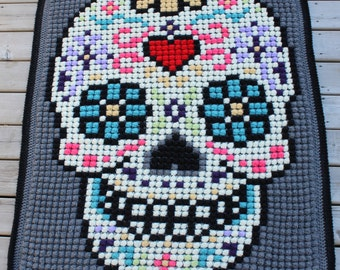 The Sugar Skull Lapgan Pattern