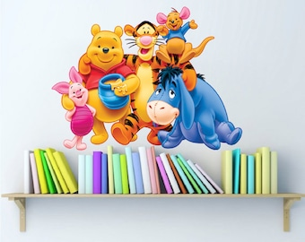 Winnie the Pooh Wall Decal Design Characters Disney Pooh Bear Kids Wall  Decals Winnie the Pooh Wall Designs, Winnie the Pooh Wall Art, b49