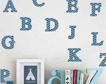 Alphabet Wall Decals Etsy - Vinyl wall decals alphabet
