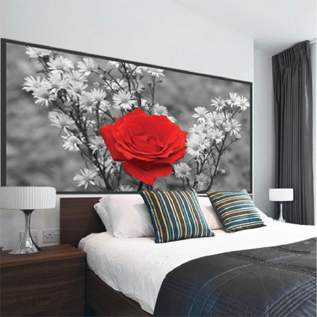 Custom Made Rose Wall Decal by PrimeDecal