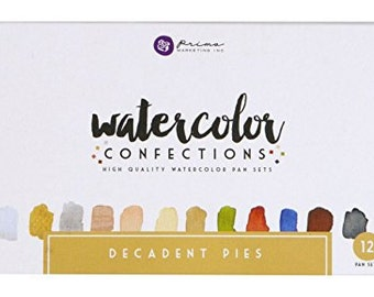 Prima Marketing Watercolor Confections - Decadent Pies