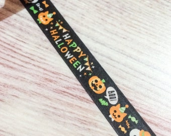 Cute Halloween Washi Tape - Black