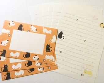 Japanese Letter Set - Cat Stationery