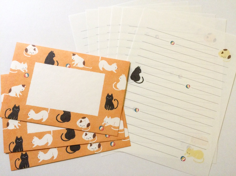 Japanese Letter Set Cat Stationery