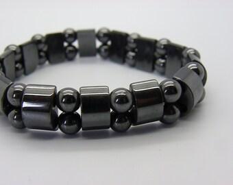 men's Hematite elastic bracelet