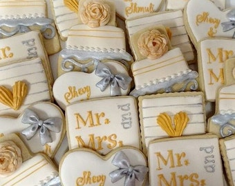 Engagement/ Bridal Shower cookie set