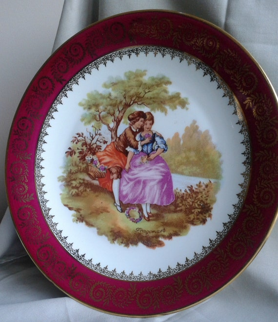 Limoges Fragonard Collector Plates French Vintage
