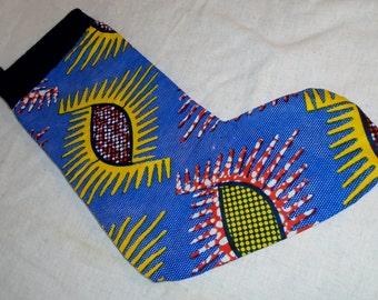 African Wax Print, Christmas Stocking