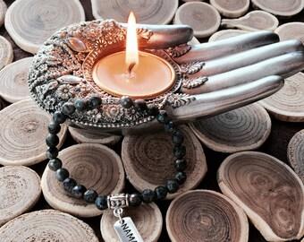 Labradorite Bracelet,Heart Chakra,Namaste Labradorite,Yoga Jewelry,Spiritual Bracelet,Healing Labradorite,Meditation Gemstone,Zen Protector