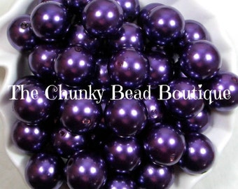 20mm grape resin pearls, 10 pieces